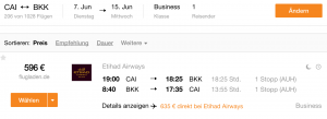 CAI - BKK @ 600 € business